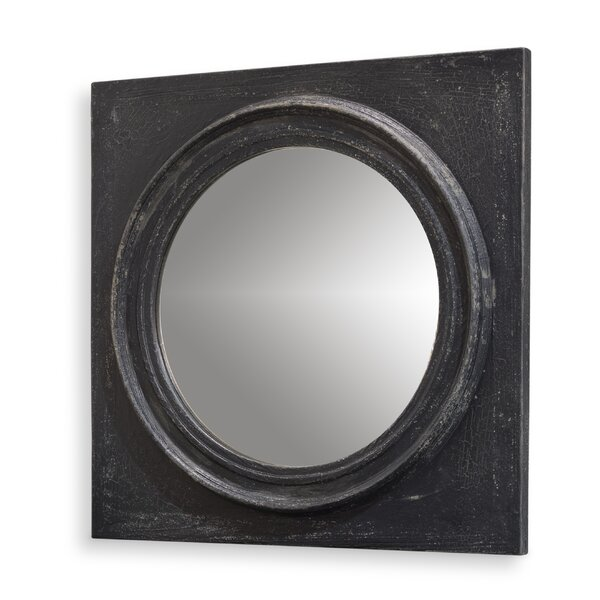 Circle Squared Weathered Accent Mirror by Sarreid Ltd