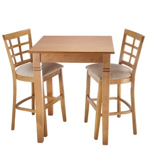 Lattice 3 Piece Counter Height Pub Table Set by Benkel Seating