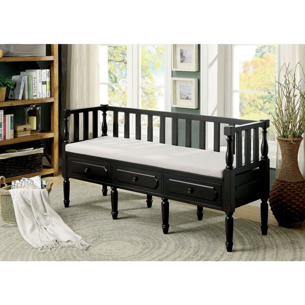 Uribe 3 Drawer Wood Bench by Gracie Oaks