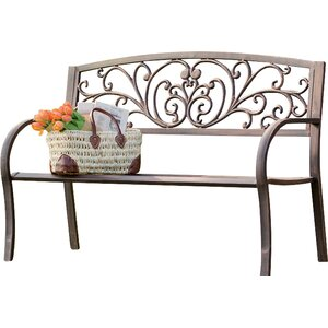 Blooming Iron Garden Bench