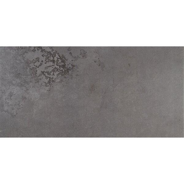 Slate Attaché 12 x 24 Porcelain Field Tile in Meta Dark Gray by Daltile