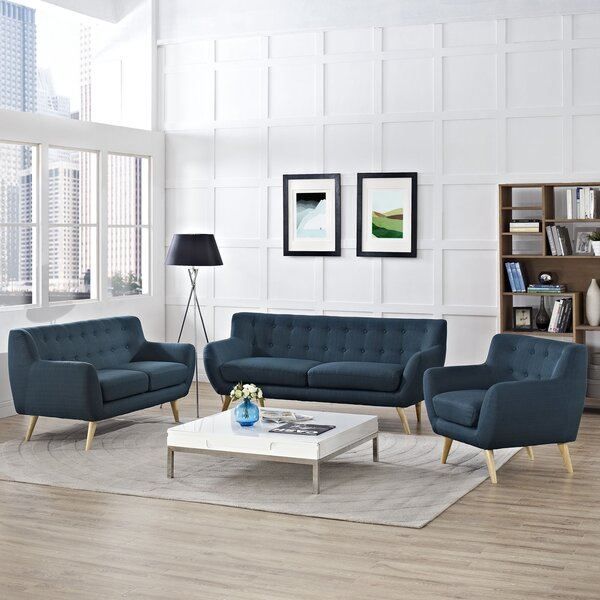 Meggie 3 Piece Living Room Set by Langley Street