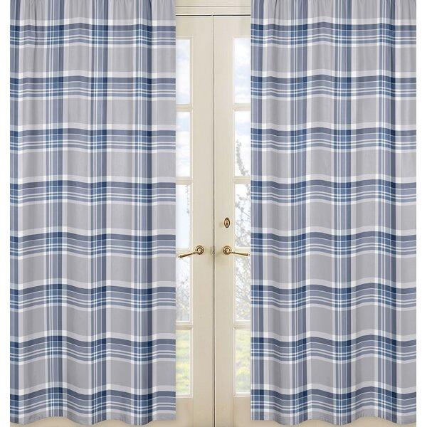 Plaid Curtain Panels (Set of 2) by Sweet Jojo Designs