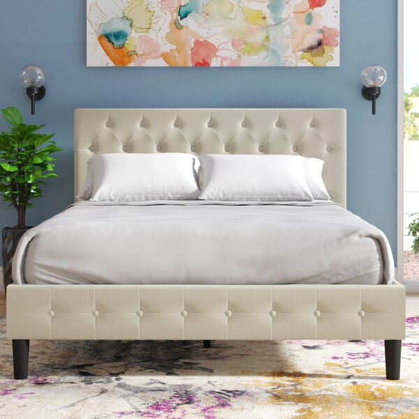 Hankerson Upholstered Platform Bed by Mercury Row