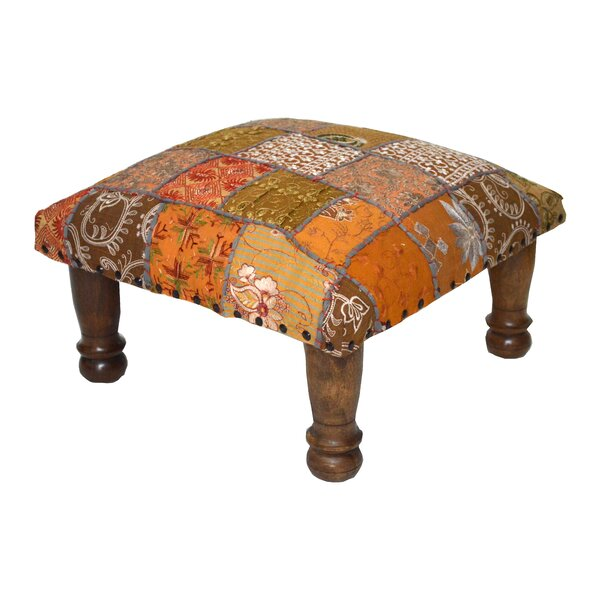 Patchwork And Embroidered Ottoman By Divine Home Read Reviews