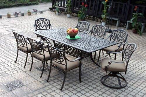 Skyloft 9 Piece Rectangular Dining Set with Cushions by Astoria Grand