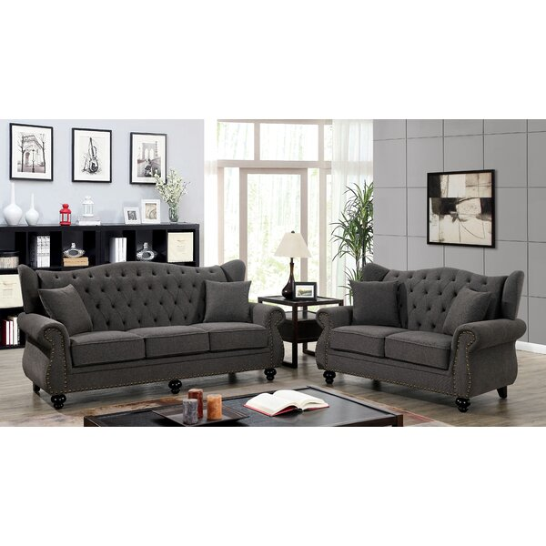 Sharron Standard Rolled Arms Loveseat By House Of Hampton