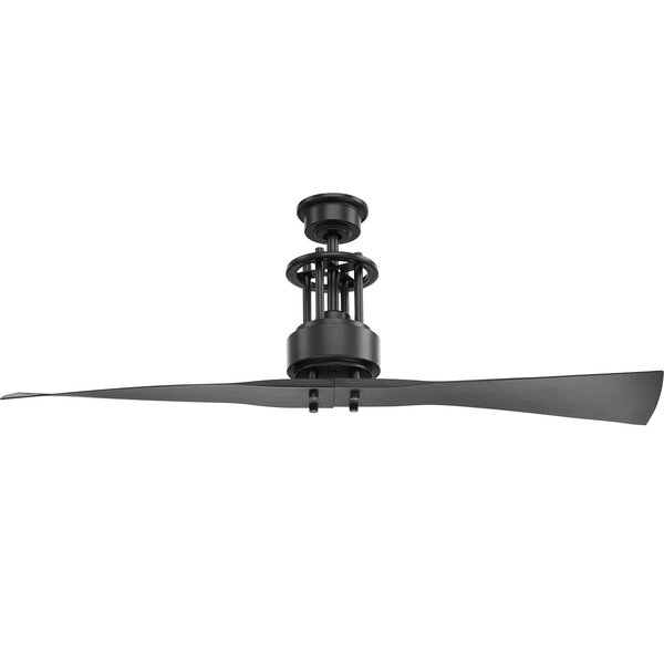 Hilyard 2 Blade Ceiling Fan with Remote by Orren Ellis