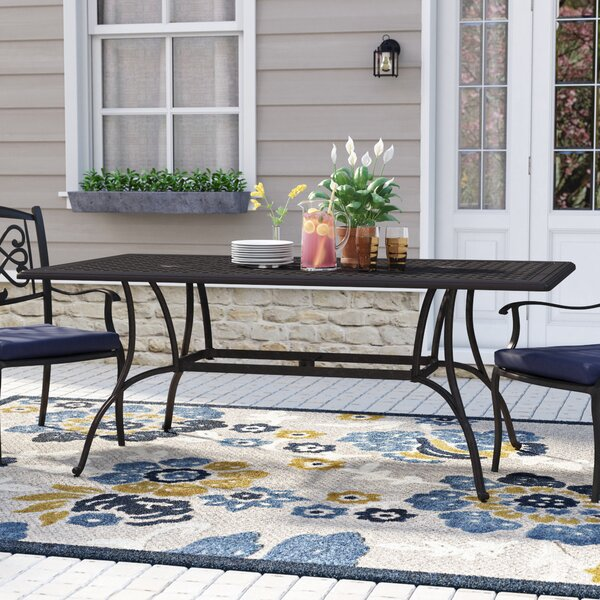Maytown Cast Aluminum Dining Table by Darby Home Co Darby Home Co