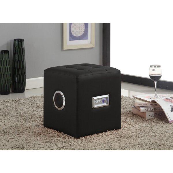 Aiesha Sound Tufted Cube Ottoman By Orren Ellis