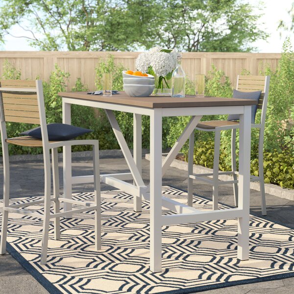 Caspian Bar Table by Sol 72 Outdoor
