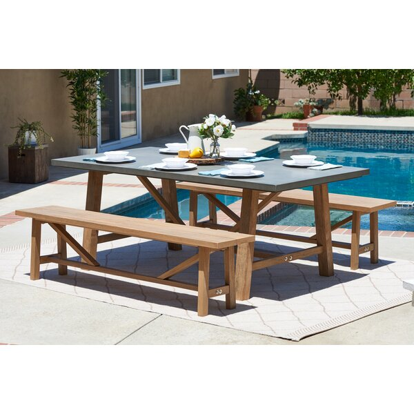 Desborough 3 Piece Outdoor Dining Set By Three Posts