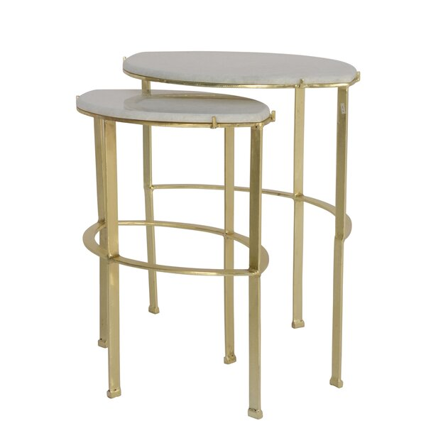 Foxx 2 Piece Nesting Tables By Everly Quinn