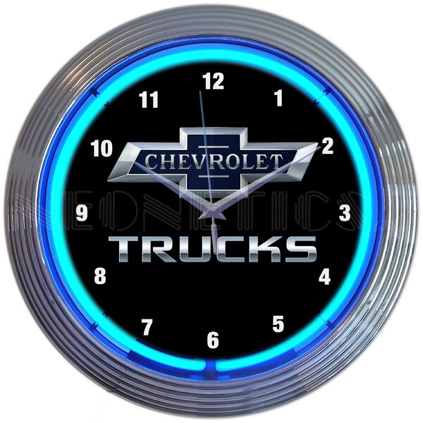 Chevy Trucks 100th Anniversary Neon 15 Wall Clock by Neonetics