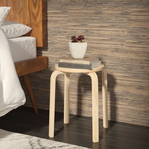 Girardi Short Stacking 18 Bar Stool (Set of 4) by Corrigan Studio
