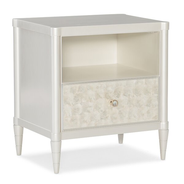 1 - Drawer Nightstand in White by Caracole Classic Caracole Classic