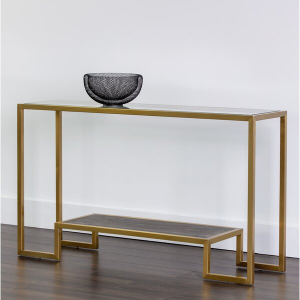 Everly Quinn Gray Console Tables