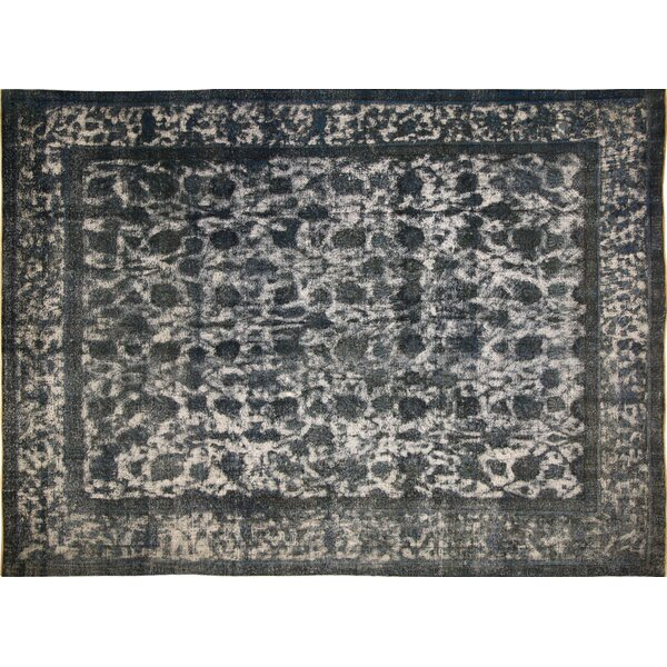 One-of-a-Kind Distressed Lilyana Hand-Knotted Blue Area Rug by Noori Rug