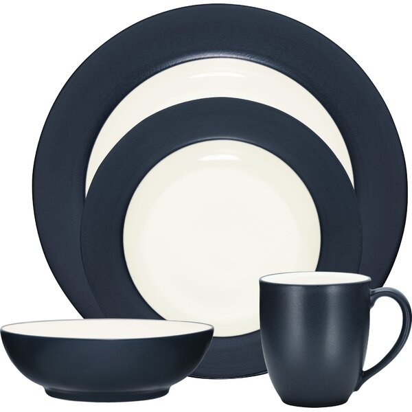 Colorwave Rim 16 Piece Dinnerware Set, Service for 4 by Noritake