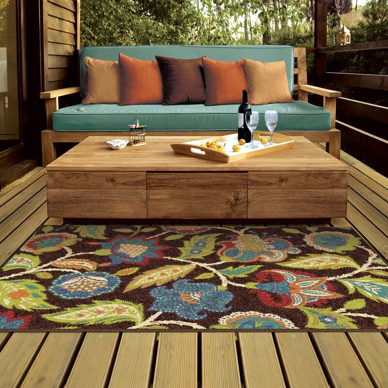 Gilson Brown Indoor Outdoor Area Rug