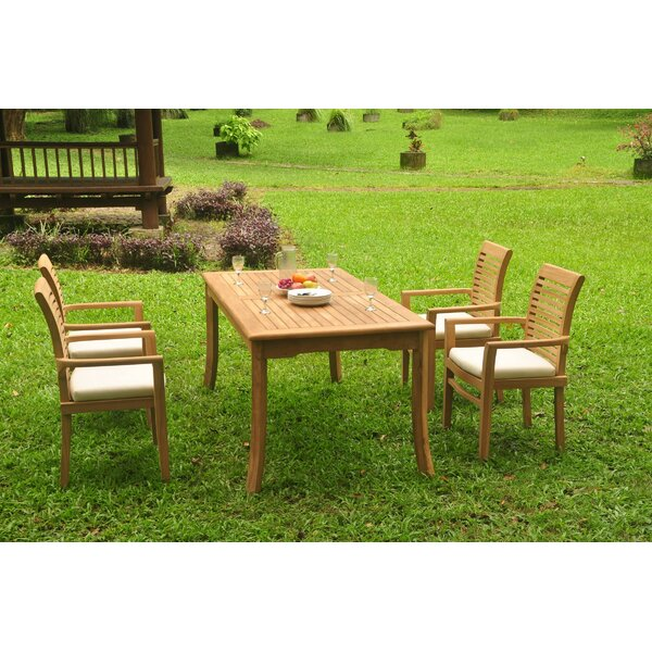 Spears 5 Piece Teak Dining Set by Rosecliff Heights