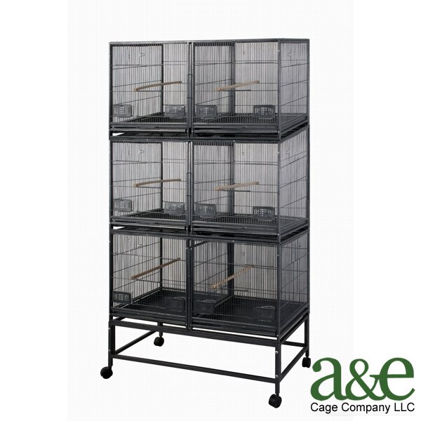 3 Level Bird Cage with 3 Removable Dividers and 6 Units by A&E Cage Co.