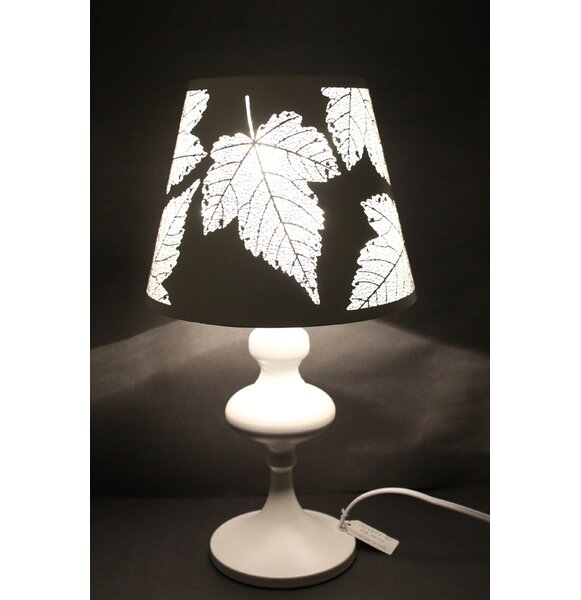 Jernigan Maple Leaf Cutout Oval 19 Table Lamp by Winston Porter