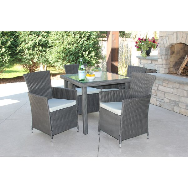 Nakamura 5 Piece Dining Set with Cushions by Latitude Run