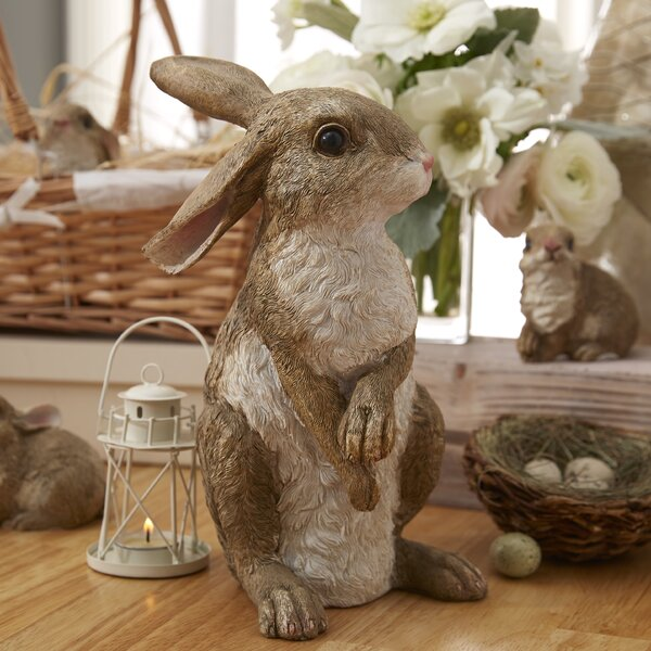 Hopper The Bunny Standing Garden Rabbit Statue By Design Toscano.