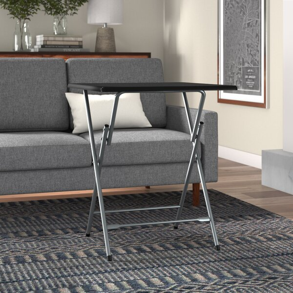 Palisades Oversized Metal Folding Tray Table by Symple Stuff