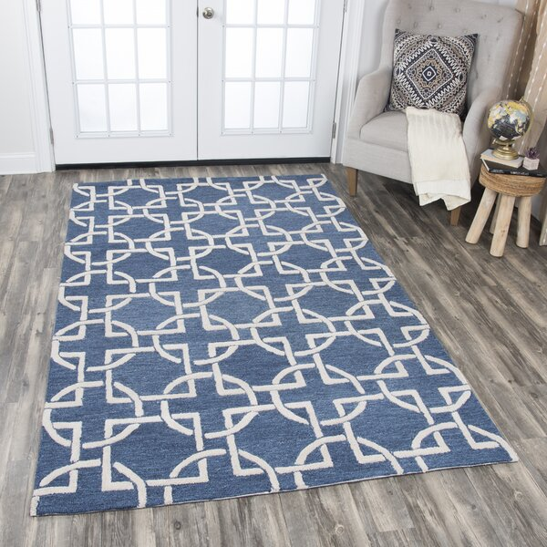 Arcand Hand-Tufted Blue Area Rug by Brayden Studio