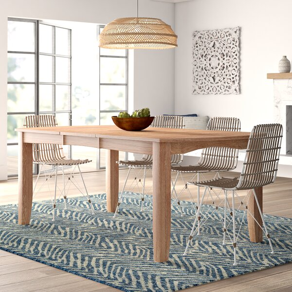 Lynn Extendable Solid Wood Dining Table by Mistana