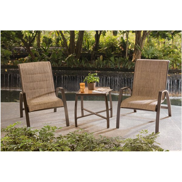 Lundquist 3 Piece Bistro Set by Ebern Designs