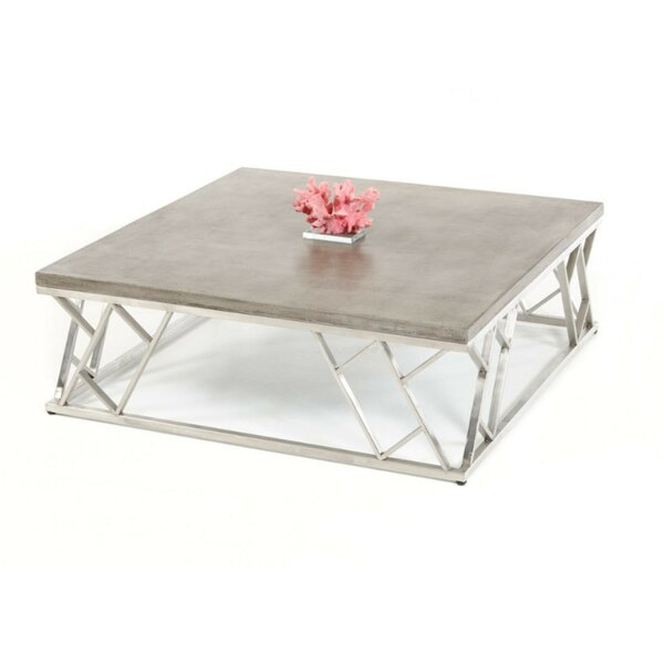 Kyler Modern Concrete Coffee Table by 17 Stories