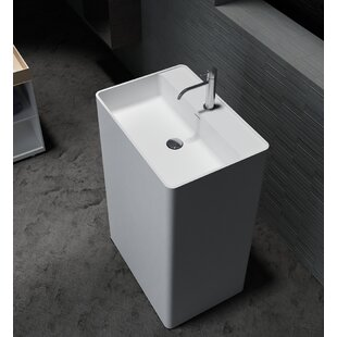 Comparison Havasu Stone 24 Pedestal Bathroom Sink By CastelloUSA