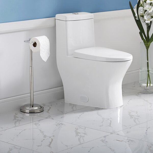 Sublime II Compact Dual-Flush Elongated Floor Mount Toilet (Seat Included) by Swiss Madison
