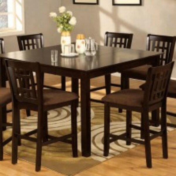 Mock Transitional Square 9 Piece Pub Table Set by Winston Porter