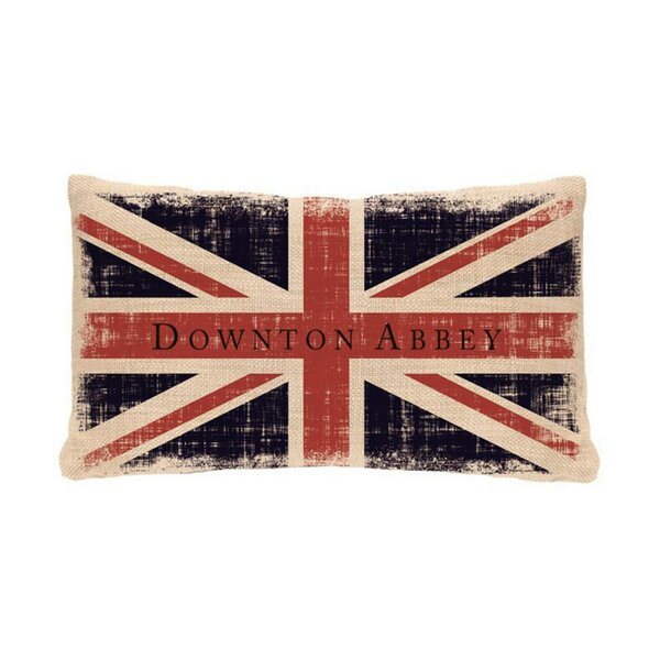 Downtown Abbey British Union Jack Decorative Rectangular Throw Pillow by Northlight Seasonal