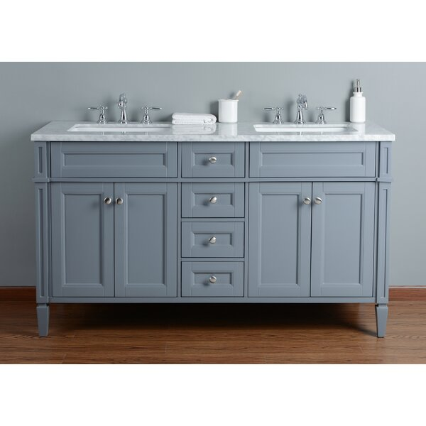 Mauricio French 60 Double Bathroom Vanity Set by Mistana