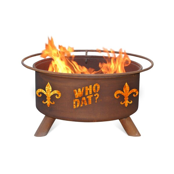 Who Dat Steel Wood Burning Fire Pit by Patina Products