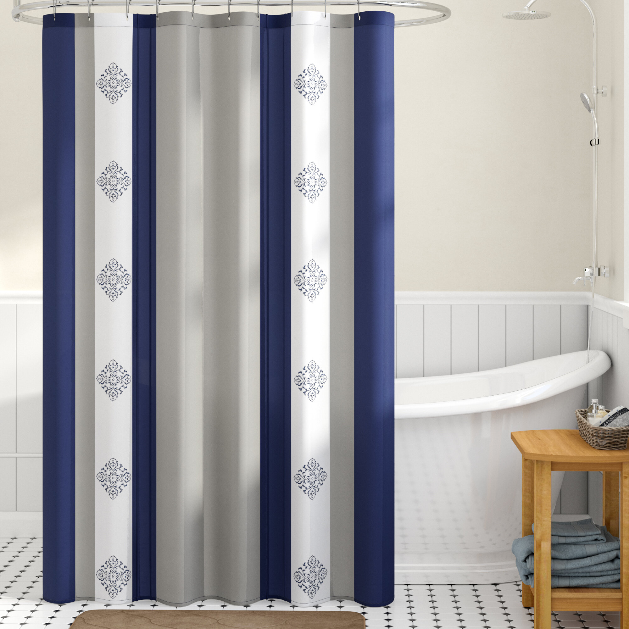 Winston Porter Hankins Embroidered Shower Curtain Reviews