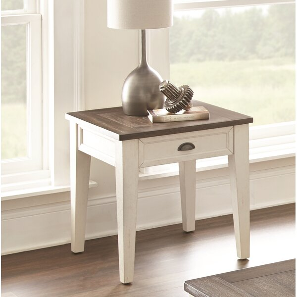 Duclos End Table with Storage by Highland Dunes