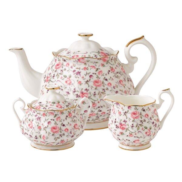 Rose Confetti 3 Piece Teapot Set by Royal Albert