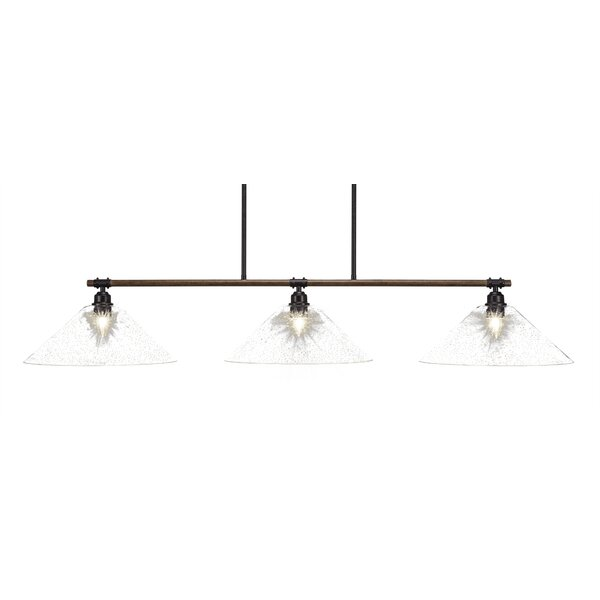 Pujari 3-Light Kitchen Island Pendant by Loon Peak