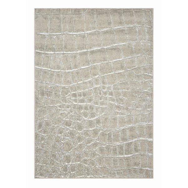 Bayview Ivory Checked Area Rug by World Menagerie