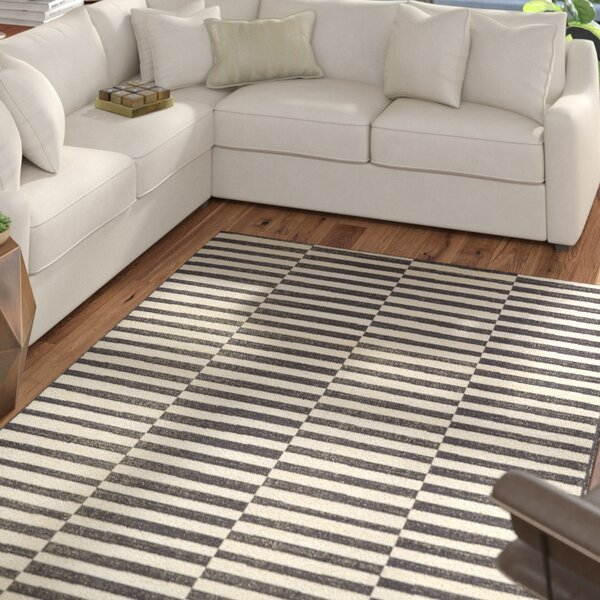 Braxton Black Area Rug by Mercury Row