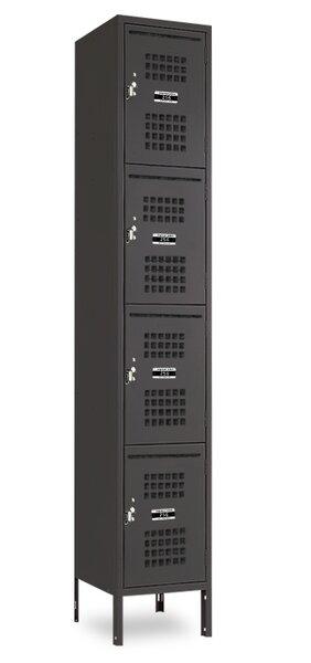 4 Tier 1 Wide Employee locker by Jorgenson Lockers