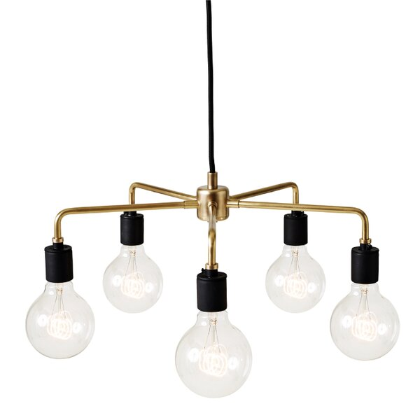 Tribeca Leonard 5-Light Candle Style Chandelier by Menu