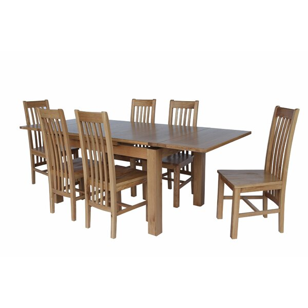 Pecora 7 Piece Extendable Dining Set by Loon Peak