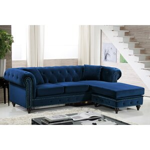 Paulita Reversible Sectional  sc 1 st  Wayfair : velvet sofa sectional - Sectionals, Sofas & Couches